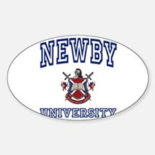 NEWBY University Oval Decal