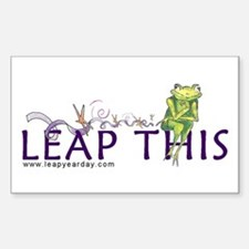 LEAP THIS Rectangle Decal
