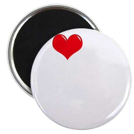 I-Love-My-Poodle-dark Magnet