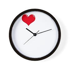 I-Love-My-Poodle-dark Wall Clock