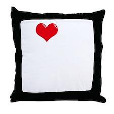 I-Love-My-Poodle-dark Throw Pillow