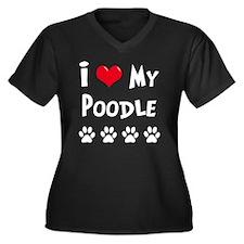 I-Love-My-Po Women's Plus Size Dark V-Neck T-Shirt
