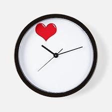 I-Love-My-Schipperke-dark Wall Clock