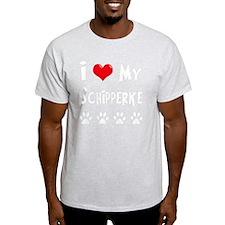 I-Love-My-Schipperke-dark T-Shirt