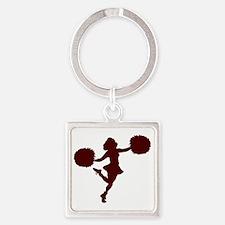 32220961CRIMSON Square Keychain