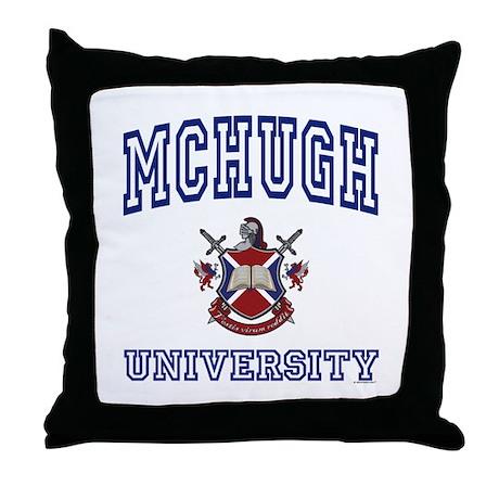 MCHUGH University Throw Pillow
