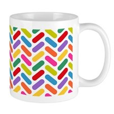 Candy Herringbone Pattern Mug