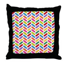 Candy Herringbone Pattern Throw Pillow