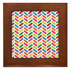 Candy Herringbone Pattern Framed Tile