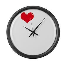 I-Love-My-Mastiff-dark Large Wall Clock