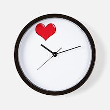 I-Love-My-Mastiff-dark Wall Clock