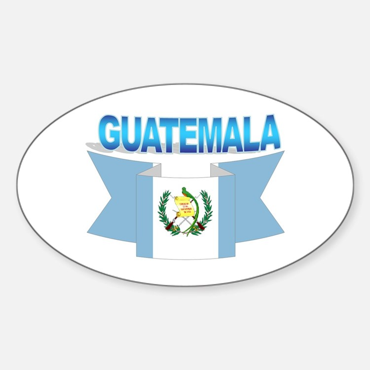 The Guatemala flag ribbon Oval Decal