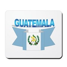 The Guatemala flag ribbon Mousepad