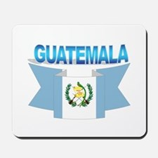 The Guatemala flag ribbon Mousepad