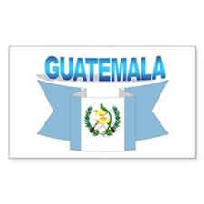 The Guatemala flag ribbon Rectangle Decal