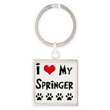 I-Love-My-Springer Square Keychain