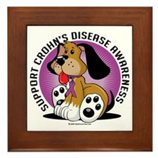 Crohns-Disease-Dog Framed Tile