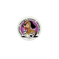 Crohns-Disease-Dog Mini Button