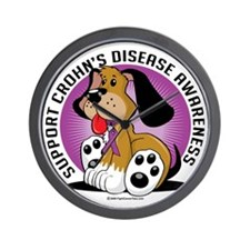 Crohns-Disease-Dog Wall Clock
