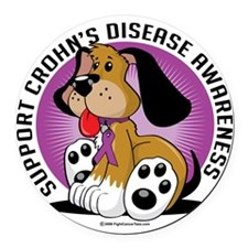 Crohns-Disease-Dog Round Car Magnet