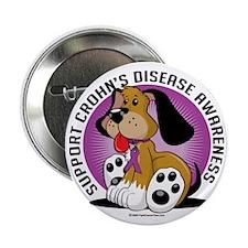 "Crohns-Disease-Dog 2.25"" Button"