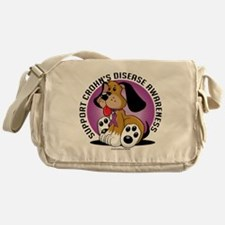 Crohns-Disease-Dog Messenger Bag