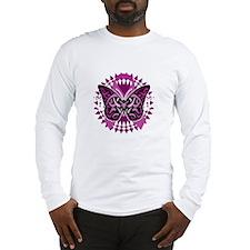 Crohns-Disease-Butterfly-Triba Long Sleeve T-Shirt