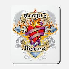 Crohns-Disease-Cross--Heart Mousepad