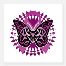 """Crohns-Disease-Butterfly Square Car Magnet 3"""" x 3"""""""