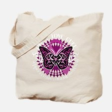 Crohns-Disease-Butterfly-Tribal-blk Tote Bag