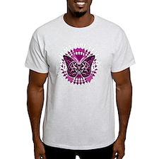 Crohns-Disease-Butterfly-Tribal-blk T-Shirt