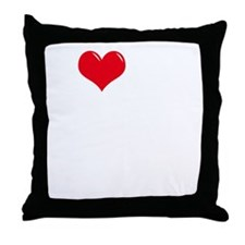 I-Love-My-Doodle-dark Throw Pillow