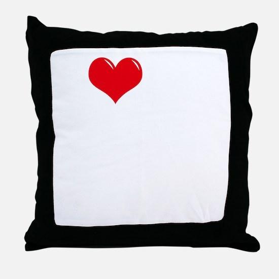 I-Love-My-Doodle-dark Throw Pillow