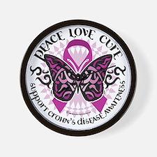 Crohns-Disease-Butterfly-Tribal Wall Clock