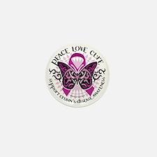 Crohns-Disease-Butterfly-Tribal Mini Button