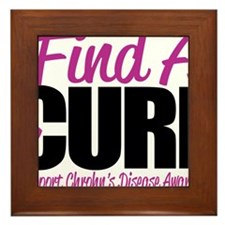 Crohns-Disease-Find-A-Cure Framed Tile