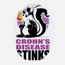 Crohns-Disease-Stinks Oval Ornament