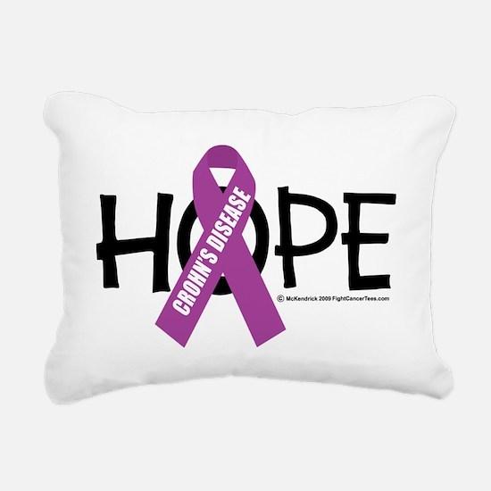 Crohns-Disease-Hope Rectangular Canvas Pillow