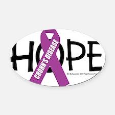 Crohns-Disease-Hope Oval Car Magnet