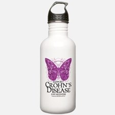 Crohns-Disease-Butterf Sports Water Bottle