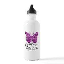 Crohns-Disease-Butterf Water Bottle