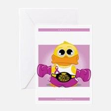 Knock-Out-Crohns-Disease-blk Greeting Card