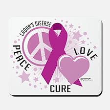 Crohns-Peace-Love-Cure Mousepad
