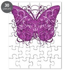 Crohns-Disease-Butterfly-blk Puzzle