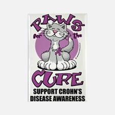 Paws-for-the-Cure-Cat-Crohns-Dise Rectangle Magnet
