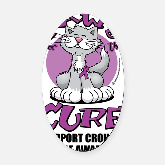 Paws-for-the-Cure-Cat-Crohns-Disea Oval Car Magnet