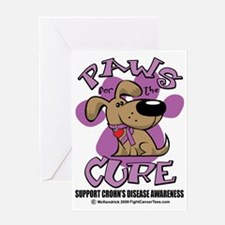 Paws-for-the-Cure-Crohns-Disease Greeting Card