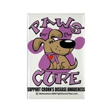 Paws-for-the-Cure-Crohns-Disease Rectangle Magnet