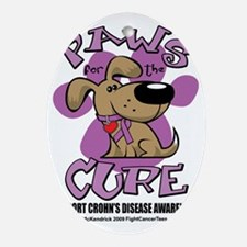 Paws-for-the-Cure-Crohns-Disease Oval Ornament