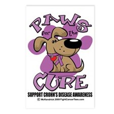 Paws-for-the-Cure-Crohns- Postcards (Package of 8)
